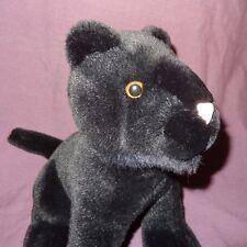 """Black Panther Cat Kitten Plush Stuffed Animal 11"""" Caltoy"""