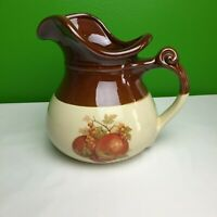 VINTAGE MCCOY Pottery Ceramic PITCHER BOWL 7515 Two Tone Brown Cream USA EUC