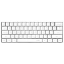 IKBC Poker 61-key Mechanical Keyboard PBT Keycap Cherry Black Switch White