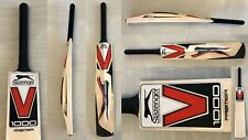 New Balance RED Cricket Bat Stickers Embossed