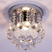 NEW Elegant Chandelier Crystal Lamp Light Ceiling Flush Mount Modern Fixture