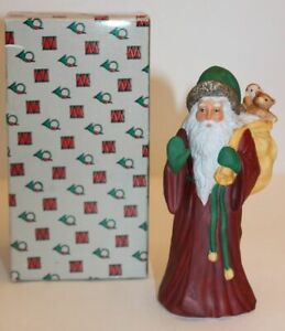 Vintage Father Christmas Old Fashion Santa Claus with Box St. Nicholas 5366