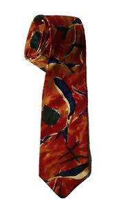 HUGO BOSS Men's Classic Maroon Mix Patterned 100% Silk Tie.