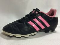 Adidas Youth Soccer Cleats G65054 GOLETTO IV Girls 13.5 Youth Black Pink White