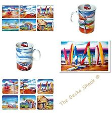 Beach VW Surf Kombi Safari Table set -Coasters, Placemats, Coffee Mugs,Tea Towel