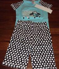 Sz 5 Girls The Company Store Kids Sheep Polka Dot 100% Cotton Summer Pajama Set