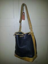 sac vintage UPLA, forme seau, bon état, cuir souple marron et gold