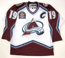 JOE SAKIC 1996 STANLEY CUP RBK WHITE COLORADO AVALANCHE JERSEY LARGE