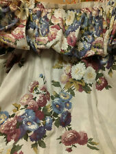 VINTAGE SPRINGS FLORAL SHOWER CURTAIN W/ATTACHED BALOON VALANCE