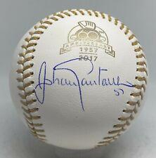 Johan Santana Signed 2017 Gold Glove Award Baseball JSA COA AUTO NY Mets