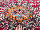 10x13 HANDMADE VINTAGE WOOL RUG HAND-KNOTTED ORIENTAL ANTIQUE red blue big 10x14