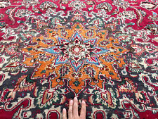 New listing 10x13 Handmade Vintage Wool Rug Hand-Knotted Oriental Antique red blue big 10x14
