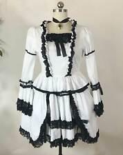 Victorian Gothic Lolita Steampunk Renaissance Goth Bride Halloween Costume 8/M