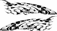 Boat Car Truck Trailer Checkered  Flag Graphics Decal Racing Flag Stickers Wrap