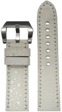 24mm RIOS1931 for Panatime White Toad Watch Strap with Match Stitch 24x22