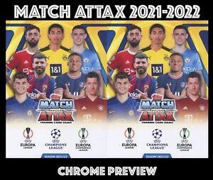 CHROME PREVIEW TOPPS  MATCH ATTAX 2021-2022 2021/22