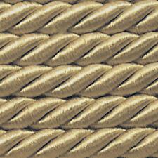 ab 5,0 lfm Satinkordel Ø 8mm Altgold Sahara (1,18 €/m)Satinschnur  Flechtschnur