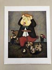STEVEN LAMB,'ANOTHER PAVAROTTI AND FRIENDS,2001' AUTHENTIC 2001 ART PRINT