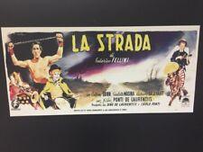 Locandina La Strada Fellini cm. 33x70 ristampa digitale tiratura limitata