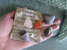 NEW NATURAL GEMSTONE HAPPINESS, HEALTH & CRYSTAL HEALING SET OF 6 STONES