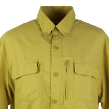 Duluth Trading Co Men's Nylon Button Up Fishing Vented Shirt L Hiking Outdoors