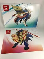 """Lot of 2 Pokemon Sword & Shield Promo Promotional Display Wall Poster 17"""" x 26"""""""