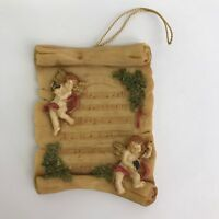 Resin Christmas Ornaments Angels on  Sheet Music Silvestri Holiday Decoration