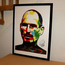 Steve Jobs, Apple, iPhone, Entrepreneur, Inventor, Pixar, 18x24 POSTER w/COA