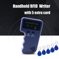 Portable Handheld RFID ID Card Copier Duplicator Reader Writer + 5 White Cards