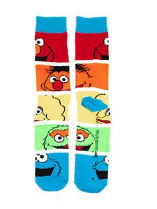 Sesame Street - Faces in a Rainbow - Socks - Adult Crew OSFM Unisex