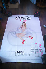 COCA KARL LAGERFELD A 4x6 ft Bus Shelter Original Advertising Poster 2011
