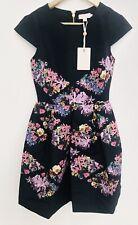 Ted Baker Floral Girley Lost Gardens Diamond Skater Dress Size 0 UK 6