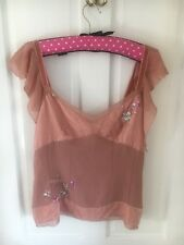 Vintage Whistles Silk And Velvet Top