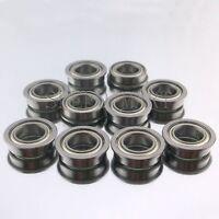 5 x 10 x 4 mm MF105-ZZ 10 Pack Flanged Ball Bearing K2F5