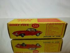 DINKY TOYS 120 BOX for JAGUAR E TYPE - 1:43 - GOOD CONDITION - ONLY EMPTY BOX