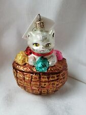 Ornament Rare Christopher Radko Cat In A Basket New W/ Tag Collectible Christmas