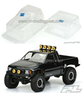 """1985 Toyota HiLux SR5 Clear Body for 12.3"""" (313mm) Wheelbase Scale Crawlers"""