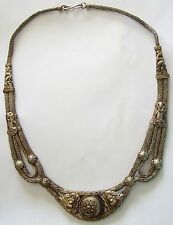 Antique Tribal Egyptian Silver Intricate Collar Necklace