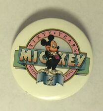 Disney Mickey Mouse Sixty Years With You Button Pin
