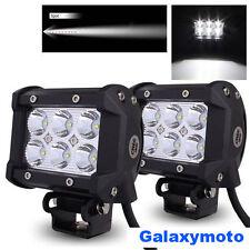 """2x 4"""" Cree White 6 LED 18w Spot Beam Off Road Roof/Work/ATV/UTE/TRUCK Light bar"""
