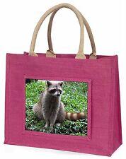 Racoon Lemur Large Pink Shopping Bag Christmas Present Idea, ARL-1BLP