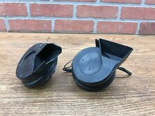 01-07 MERCEDES W203 C320 C240 C230 HIGH AND LOW PITCH HORN PAIR SET OEM