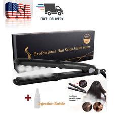 Professional Argan Oil Ceramic Salon Flat Iron Steam Hair Straightener Styler