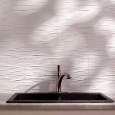 Kitchen Backsplash White Modern Decorative Vinyl Panel Wall Tiles Bath Bathroom