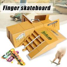 Skate Park Ramp Parts + 3X Finger Board for Tech Deck Fingerboard Ultimate Parks