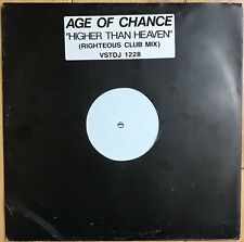 """Age Of Chance – Higher Than Heaven 12"""" Vinyl Old Skool White Label 1990 EX+"""