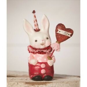 Bethany Lowe Valentines Day Snuggle Bunny Decor Figure