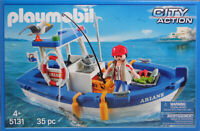 PLAYMOBIL 5131 Fischkutter Ariane Schiff Boot Angel Fische Möwe Krebse NEU
