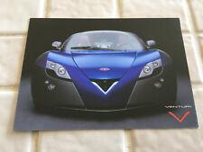VENTURI FETISH LIMITED EDITION SALES CARD BROCHURE 2004 LA AUTOSHOW RARE NEW