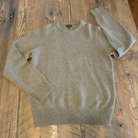 J Crew 100% Lambs Wool Sweater Chocolate Brown Crew Neck Ribbed Women's Small